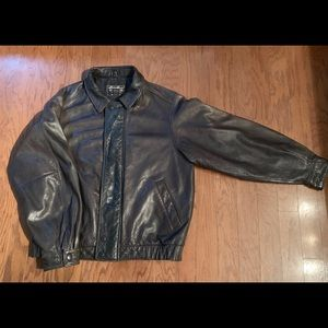 Eddie Bauer men's leather bomber jacket